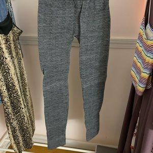 gray knit leggings
